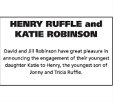 Henry Ruffle and Katie Robinson