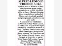 ALFRED LEOPOLD 'FREDDIE' SIEGL