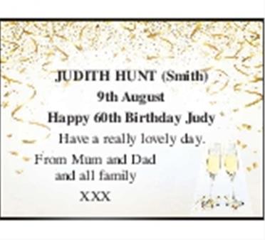 JUDITH HUNT (Smith)