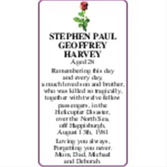 STEPHEN PAUL GEOFFREY HARVEY