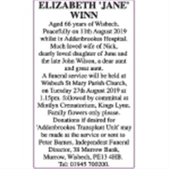 ELIZABETH 'JANE' WINN