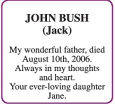 jJOHN BUSH (Jack)