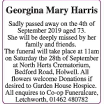 Georgina Mary Harris