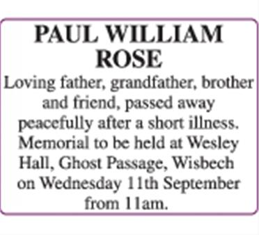 PAUL WILLIAM ROSE