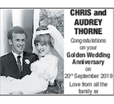 CHRIS and AUDREY THORNE