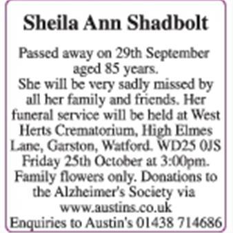 Sheila Shadbolt