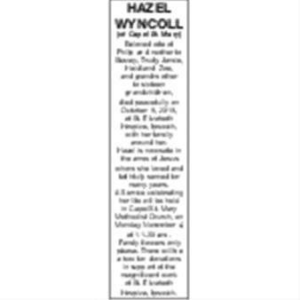HAZEL WYNCOLL