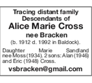 Alice Marie Cross