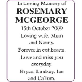 Rosemary McGeorge