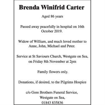 Brenda Winifrid Carter