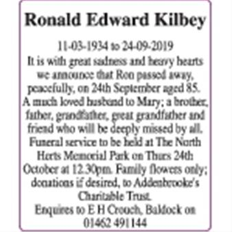Ronald Edward Kilbey