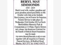 Beryl Simmonds