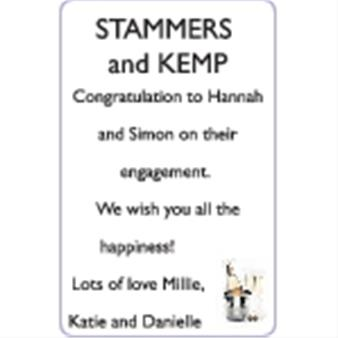 HANNAH STAMMERS and SIMON KEMP