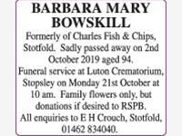 Barbara Bowskill