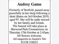 Audrey Game