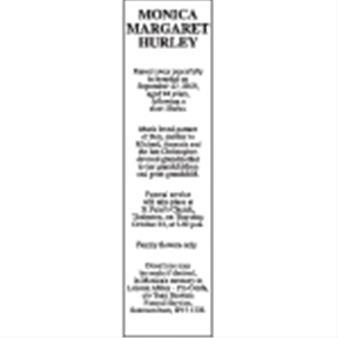 MONICA MARGARET HURLEY