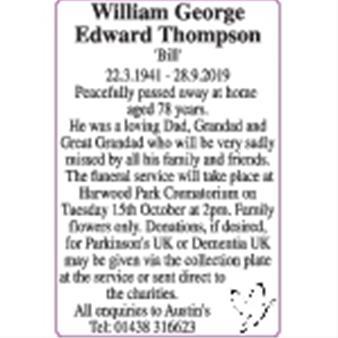 William George Edward Thompson