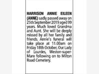 ANNIE EILEEN HARRISON (ANNE)