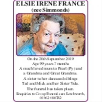 Elsie France