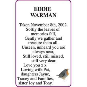 EDDIE WARMAN