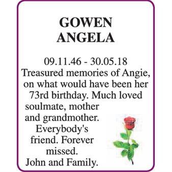 ANGELA GOWEN