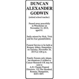 Duncan Alexander Godwin