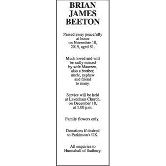 BRIAN JAMES BEETON