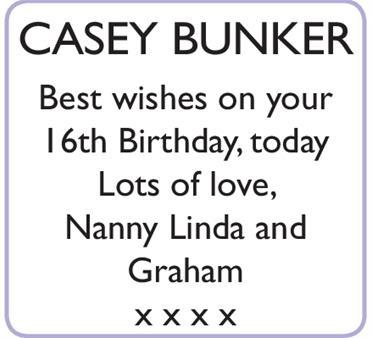 CASEY BUNKER