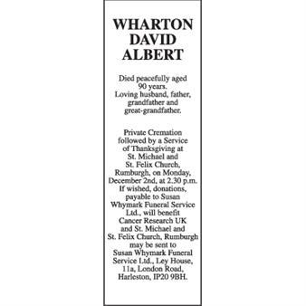 DAVID ALBERT WHARTON