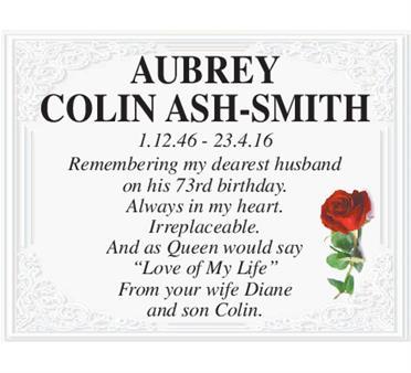 AUBREY COLIN ASH-SMITH