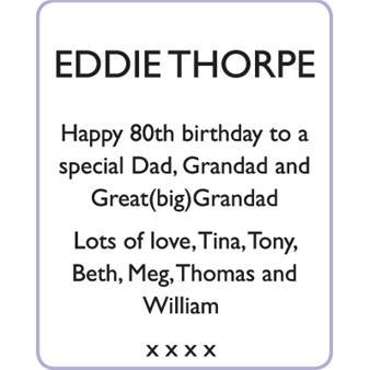EDDIE THORPE