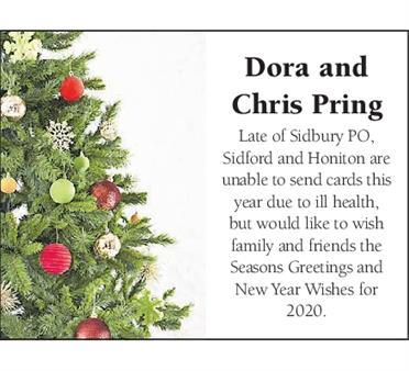 DORA and CHRIS PRING