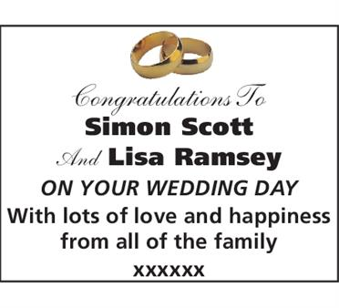 Simon Scott And Lisa Ramsey