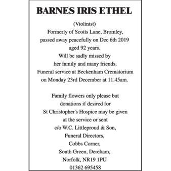 Barnes Iris Ethel