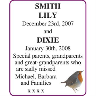 LILY and DIXIE SMITH