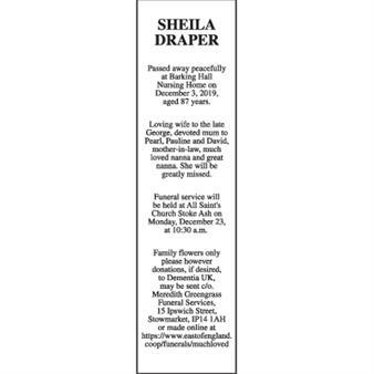 SHEILA DRAPER