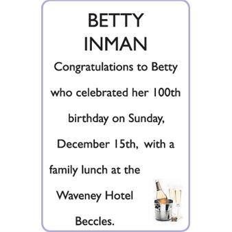 BETTY INMAN