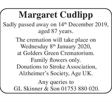 Margaret Cudlipp