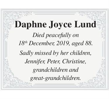 Daphne Joyce Lund