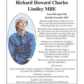 RICHARD HOWARD CHARLES LINDLEY