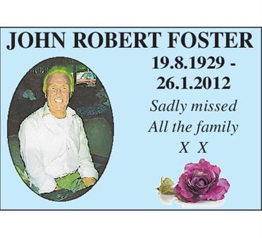 JOHN ROBERT FOSTER