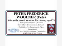 PETER FREDERICK WOOLNER