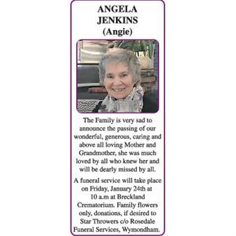 ANGELA (Angie) JENKINS