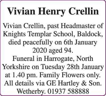 Vivian Henry Crellin