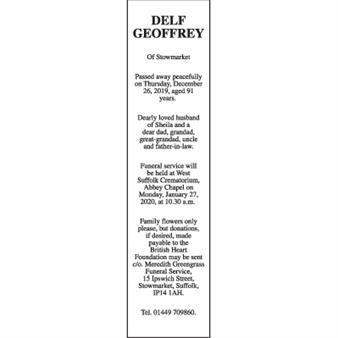 GEOFFREY DELF