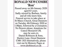 RONALD NEWCOMBE 'RON'