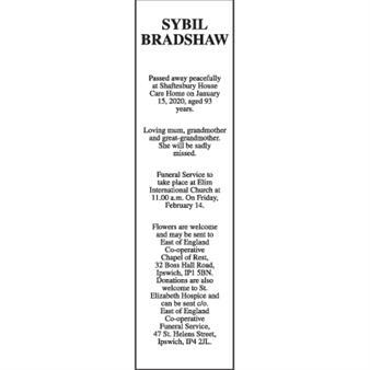 SYBIL BRADSHAW