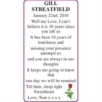 GILL STREATFIELD