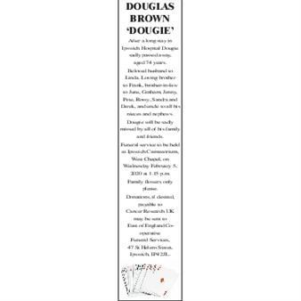 DOUGLAS BROWN 'DOUGIE'
