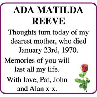 ADA MATILDA REEVE